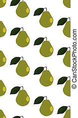 Pear Fruit Seamless Background