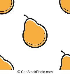 Pear fruit seamless pattern farm organic food from garden or...
