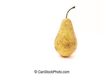 Pear green isolated on white background
