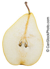 pear in the context of a white background