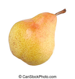 Pear isolated on white - Closeup of a pear isolated on white...