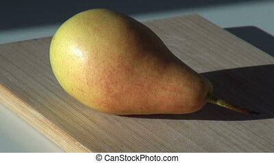 pear juicy fresh fruit. autumn harvest