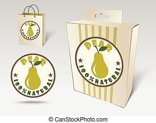 Pear label concept