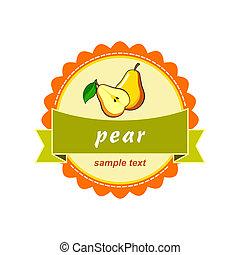 Pear labels design