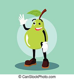 pear man colorful illustration