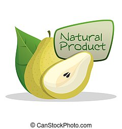 pear natural product label