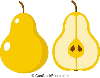 Pear on a white background isolated