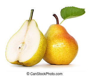 pear over white background