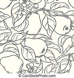 pear seamless pattern