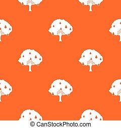 Pear tree with pears pattern seamless - Pear tree with pears...