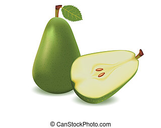 Pear - vector illustration . Pear on white background