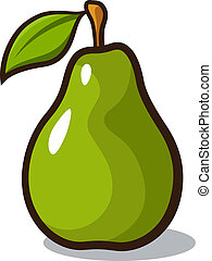 Pear - Vector illustration of a pear isolated on a white...