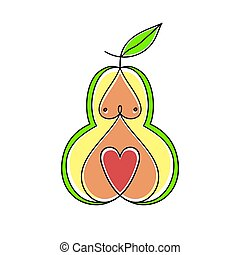 Pear Women Body Type Figure Sketch. Hand Drawn Vector Illustration Isolated on a White Background.