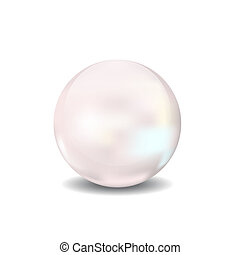 pearl 3d vector illustration sphere icon ball - pear 3d...