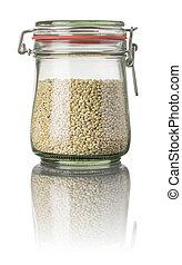 Pearl barley in a jar