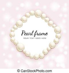 Pearl beads frame