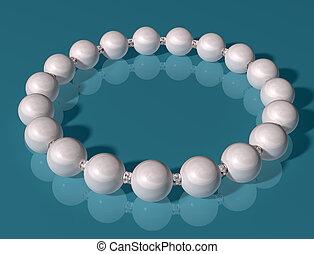 Original illustration of an elegant high class pearl bracelet