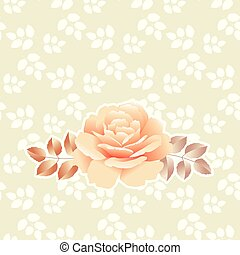 pearl color yellow rose vector illustration with simple...