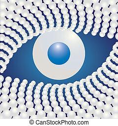 Pearl Eye abstract illustration