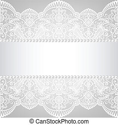 lace background - Pearl frame and lace background