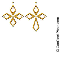 Pearl Gold Cross Jewellery Necklace