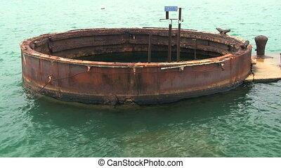 Pearl Harbor Gun Turret - Gun Turret, U.S.S. Arizona at...