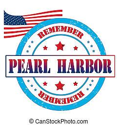 Pearl harbor stamp - Pearl harbor grunge rubber stamp,...