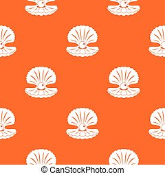 Pearl in a shell pattern seamless
