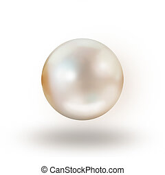 Pearl isolated on white background
