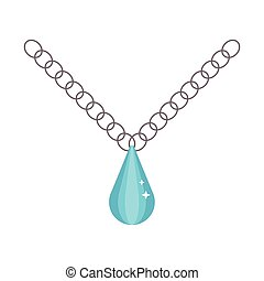 Pearl necklace decoration vector.