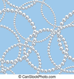 pearl necklace - seamless background with pearl necklace