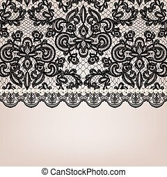 pearl necklace on lace background