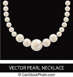 Pearl Necklace. Realistic Vector