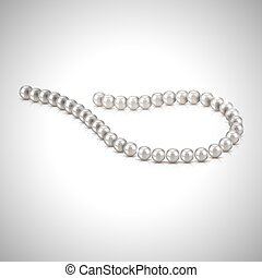 Pearl necklace vector