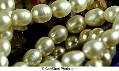 pearl necklace,gorgeous gemstones