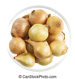 Pearl Onions in Bowl