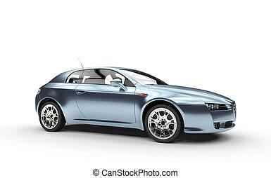 Pearlescent Blue Car