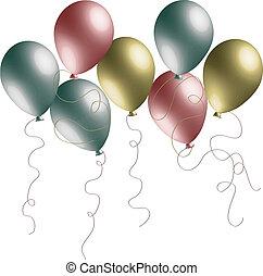 pearlized, balões, 3d