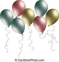 pearlized, ballons, 3d