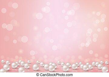 pearls., hintergrund, vektor, romantische , illustration., ...