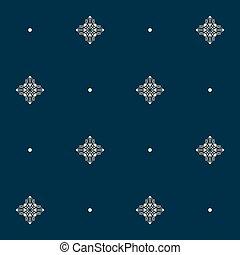 pearls., illustration., パターン, seamless, ごく小さい, ベクトル, 結び目, ...