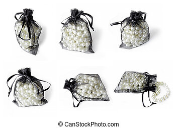 Pearls necklace isolated