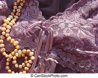 Pearls on Purple