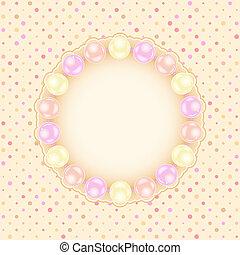 pearls., tarjeta de felicitación, boda