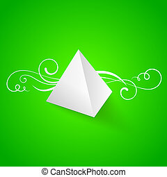 Pearly abstract pyramid.