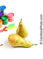 Pears and paints