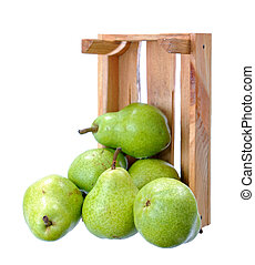 pears in crate