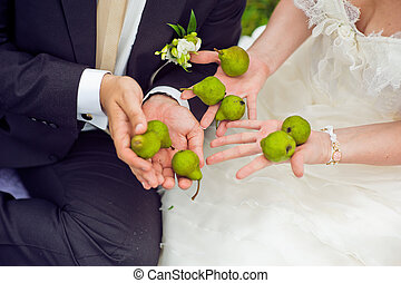 Pears in the hands