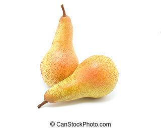 pears isolated on the white background