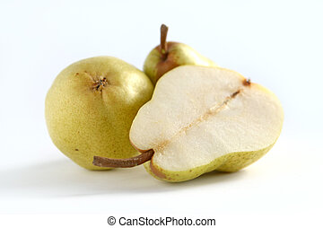 Pears isolated over white